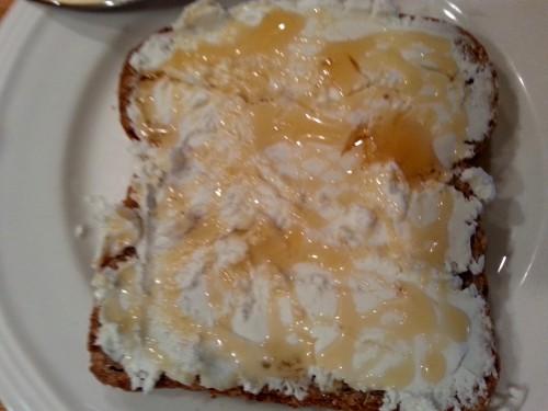 Goat Cheese Honey Toast