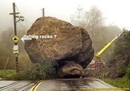 big falling rocks