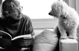mary oliver and dog
