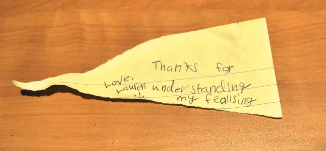 Note from Lauren